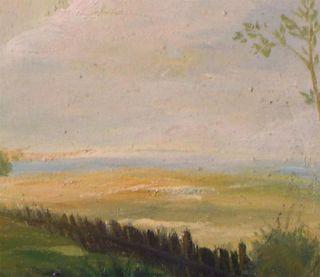 Everard Nice Horse in Field Original Oil Painting Wood Frame