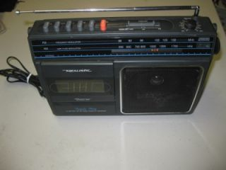 Works! Vintage Realistic Triple Play Portable AM/FM Radio Cassette CTR