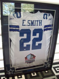 EMMITT SMITH AUTOGRAPHED REEBOK AUTHENTIC GAME JERSEY DALLAS COWBOYS