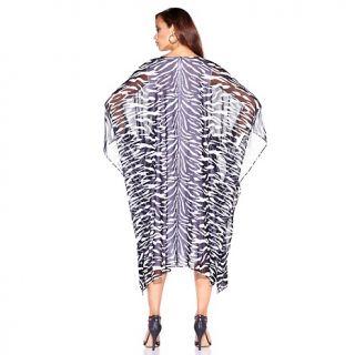DG2 Embellished Zebra Print Maxi Dress