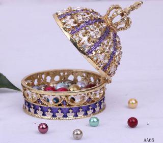Assorted Crystal Jewelry Jewellery Enamel Trinket Ring Gift charm Box