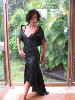 Lip Service Goth Punk Bombshell Formal Gown Dress Cape