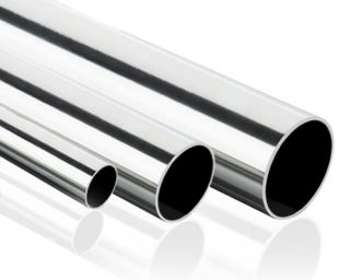 Steel Metal Pipe Straight Hose Tube Polished Exhaust   Select Size