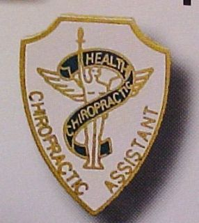 Chiropractic Assistant Chiropractor Health Gold Pin 968