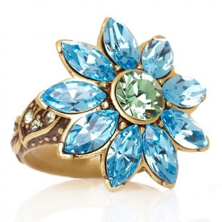 191 675 heidi daus breathless crystal accented daisy ring note