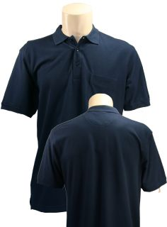 Clique Evans Pocketed Polo Shirt by Cutter Buck Mens Small Navy