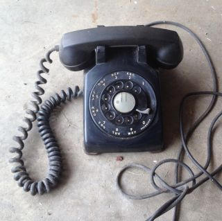 Vintage Rotary Dial Bell Telephone Old Retro Desk Phone Western