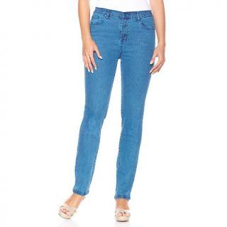 193 634 diane gilman stretch denim skinny jeans with indigo shading