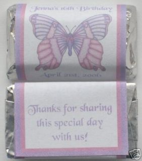 Butterfly Pink Purple Birthday Party Favors Wrappers