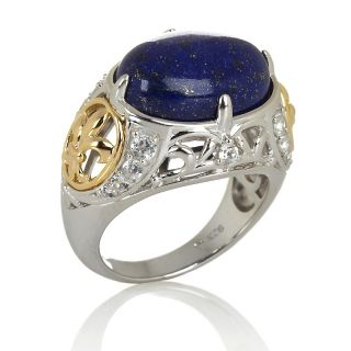 208 313 victoria wieck blue lapis and white topaz 2 tone ring note