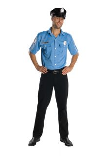 POLICE uniform adult mens officer cop halloween costume EXTRA LARGE