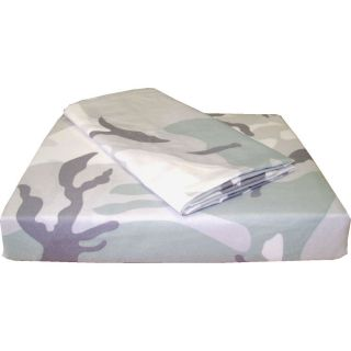 GREY CAMOUFLAGE Extra Long TWIN SHEET SET Military Bedding Camo Sheets