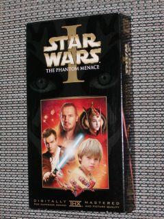 Wars Episode 1 The Phantom Menace VHS movie Ewan McGregor Liam Neeson