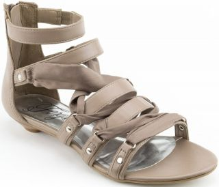 Fergie Women Shoes Instant Leather Gladiator Sandal 6 Taupe New in Box