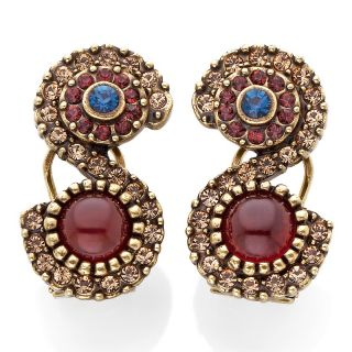 207 034 heidi daus crystal accented button swirl earrings rating 1 $