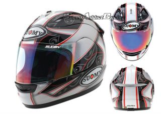 Suomy Excel Spec 1R Extreme Double Grey Full Face Motorcycle Helmet