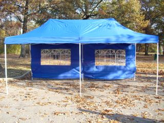 Blue 10x20 EZ Peak Top Canopy Gazebo Pop Up Party Tent
