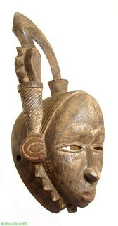 Yaure Mask with Bird at Top Ivory Coast African SALE Was $150