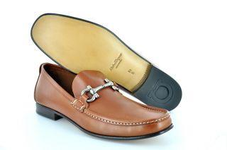 New Salvatore Ferragamo Mens Shoes Giordano Gancini Bit Loafer Baio $
