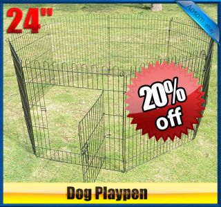 24 heavy duty 8panel Pet Playpen Dog Play Exercise Pen Cat fence