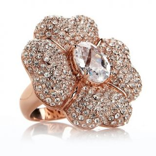 225 346 joan boyce petal perfection pave crystal flower ring rating 1