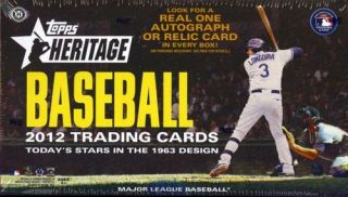 Heritage Baseball Hobby Unopened Factory SEALED Box 24 Packs