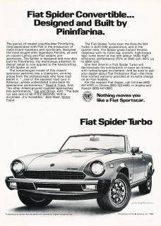 1982 Fiat Spider Turbo BW Pininfarina Classic Ad P48