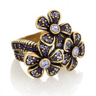 226 261 heidi daus polished posey crystal accented flower ring rating