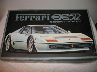Vintage Fujimi Ferrari Berlinetta Boxer BB512 1 16 Scale Car Model Kit