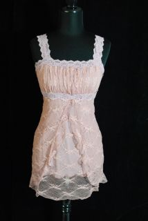 Ann Ferriday Top Small Mauve Pink Lace Tunic Beautiful