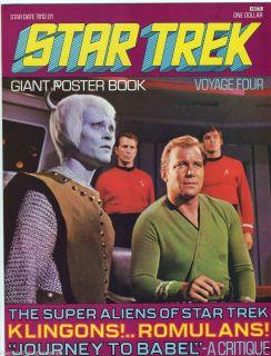 1976 Star Trek Giant Poster Book 4 Voyage Four Kirk Klingons Romulans