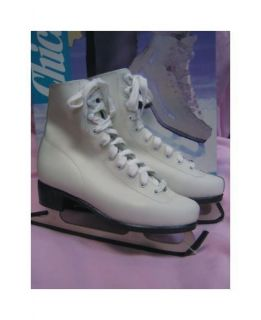 Girls Youth Childrens Soft Boot Figure Ice Skates Rink Pond