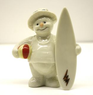 Adorable Lenox Figurine 2000 Snowman Handcrafted in Chi