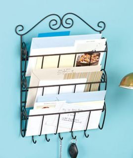 New 3 Tier Mail and Key Wall Rack Holder