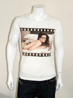 ORIGINAL GEEK Naughty Revision Film Reel Print T Shirt   White   S XXL