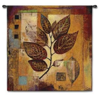 Abstract Fall Colors Leaves Art Tapestry Wall Hanging S