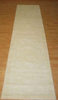 New Rug 2x9 Wexford Leaf Ivory Hall Runner $180 Off White Washable