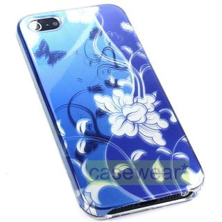 Gloss Ocean Flower Hard Face Cover Phone Case for Apple iPhone 5