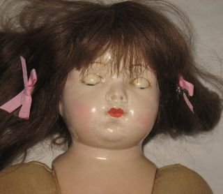 Antique Ernst Heubach 20 Bisque Head Character Baby Doll B