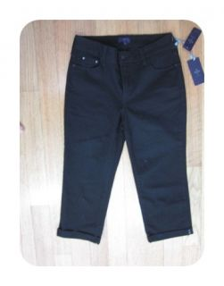 Your Daughters Jeans Black 32592 Fiona Cuffed Crop Jeans 4 $84