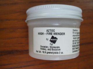 new jar Marx AZTEC high fire clay mender repair porcelain stoneware