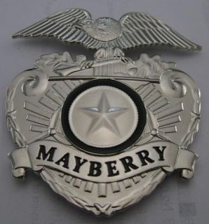 Mayberry Barney Fife Cap Badge with Free Patch Too Andy Griffith Show