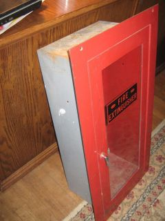 Vintage Allenco Fire Extinguisher Cabinet Wall Safe WOW Fireman Truck