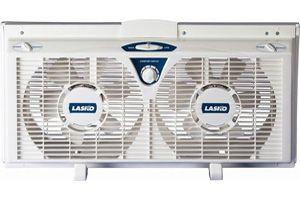 Electric Reversible Twin Window Fan Portable AC Air Cooler w