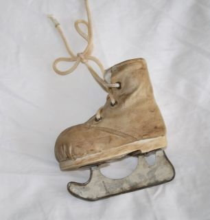 Old Looking Ice Skate Boot Christmas Tree Ornament Skating 4.75 Vinyl