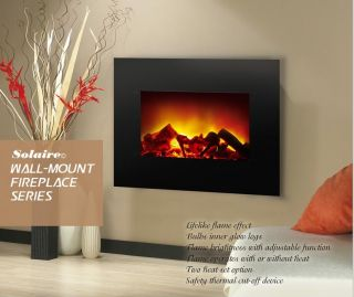 Wall Mount Electric Fireplace by Solaire   3 Day Auction