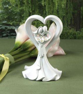 Loves Embrace w Calla Lillies Wedding Cake Topper