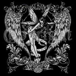 T Shirt Biker Gothic Fairy SM XL