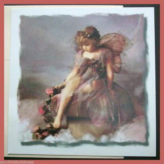 New RARE Lisa Jane Flower Fairy Girl Fantasy Child Art Greeting Note