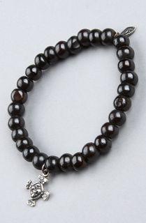 Cohen The Yak Bone Cross Bracelet in Black